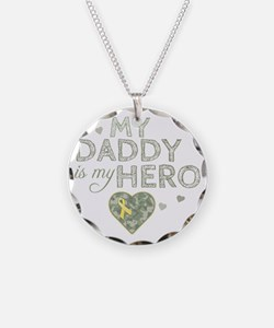 daddy is my hero Necklace Circle Charm