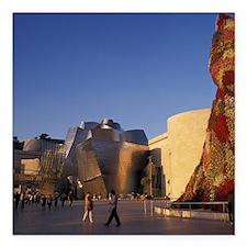 """Guggenheim Museum. Desig Square Car Magnet 3"""" x 3"""""""