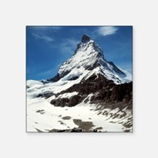 "The Matterhorn is a popular Square Sticker 3"" x 3"""