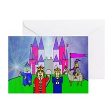 sar_amethyst_castle.puzzle Greeting Card