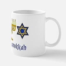 Happy Hanukkah Menorah and Stars Mug