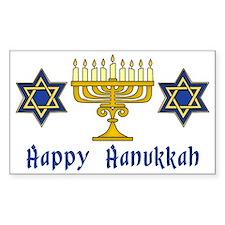Happy Hanukkah Menorah and Sta Decal