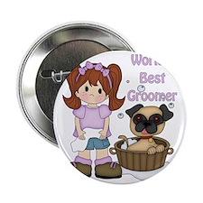 """Worlds Best Groomer 3 2.25"""" Button"""