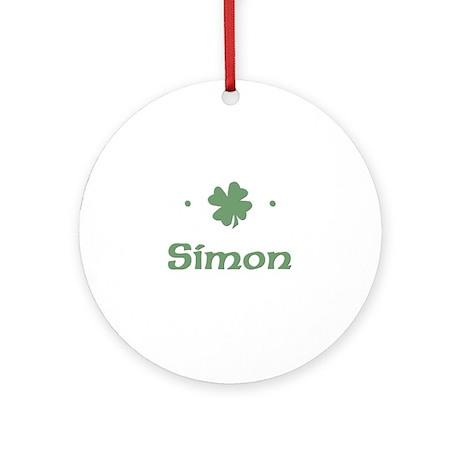 """Shamrock - Simon"" Ornament (Round)"