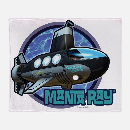 MantaRay#1 Throw Blanket