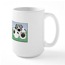 BlueMerleHerdingMugBorder Mug