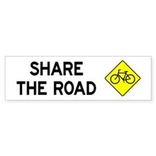 Bike Sign Share the Road Bumper Bumper Sticker