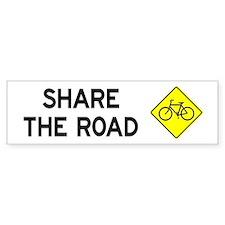 Bike Sign Share the Road Bumper Car Sticker