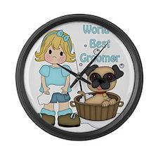 Worlds Best Groomer (2) Large Wall Clock