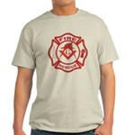 S&C Wearing the Fire Fighters Hat Light T-Shirt