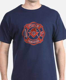 S&C Wearing the Fire Fighters Hat T-Shirt