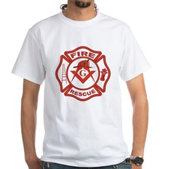 S&C Wearing the Fire Fighters Hat Shirt