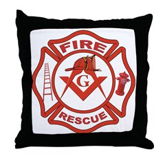 S&C Wearing the Fire Fighters Hat Throw Pillow