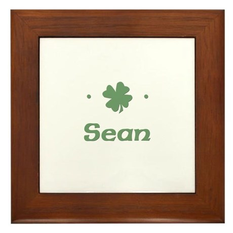 """Shamrock - Sean"" Framed Tile"