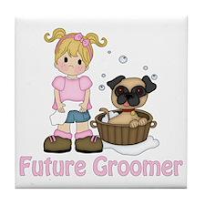 Future Groomer Blonde 1 Tile Coaster