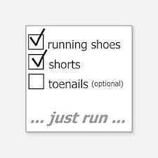 "toenail_checklist3_white Square Sticker 3"" x 3"""