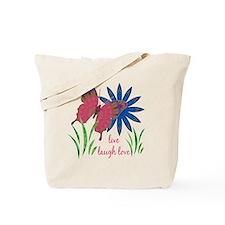 butterfly flower card 3 vert Tote Bag