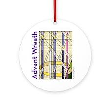 AdventWreathGlass Round Ornament