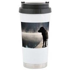 Flat Coat in the Fog Travel Mug