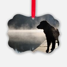Flat Coat in the Fog Ornament