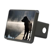 Flat Coat in the Fog Hitch Cover