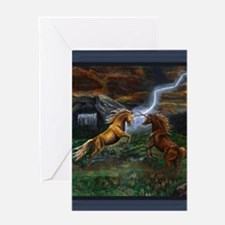 LIGHTNINGANDTHUNDERTHROWPILLOWCP Greeting Card