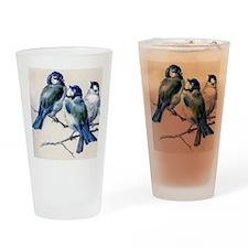 blue birds Drinking Glass