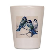 blue birds Shot Glass