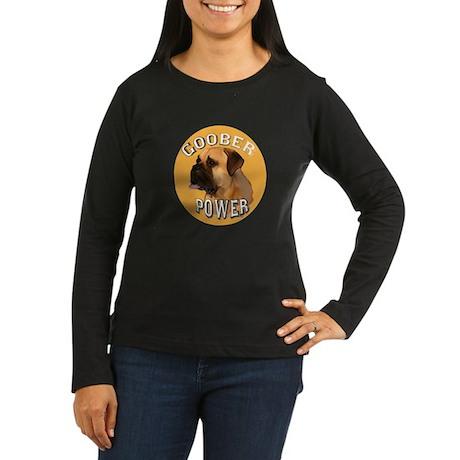 bull mastiff goober Women's Long Sleeve Dark T-Shi