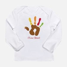 Personalized Turkey Hand Long Sleeve Infant T-Shir