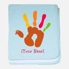 Personalized Turkey Hand baby blanket