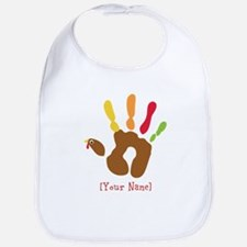 Personalized Turkey Hand Bib