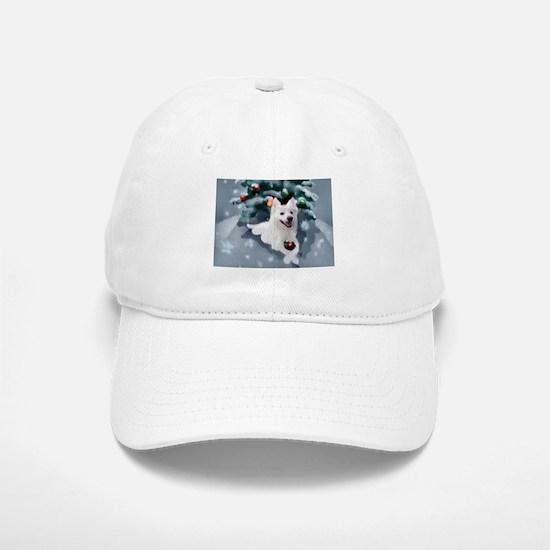American Eskimo Dog Christmas Baseball Baseball Cap