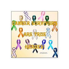 "CancerSurvivorsPillow Square Sticker 3"" x 3"""