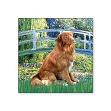 "Bridge-Nova Scotia dog Square Sticker 3"" x 3"""