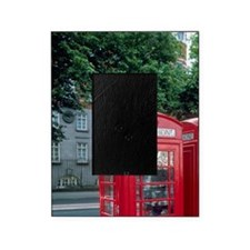 Red telephone booths in London, Engl Picture Frame