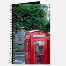 Red telephone booths in London, England. Journal