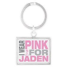 I-wear-pink-for-JADEN Landscape Keychain