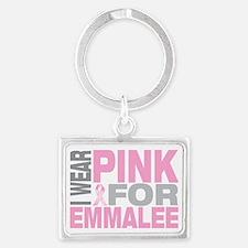 I-wear-pink-for-EMMALEE Landscape Keychain