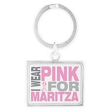 I-wear-pink-for-MARITZA Landscape Keychain