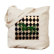 CelticHorseCheckerTile Tote Bag