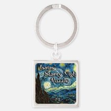 Isaias Square Keychain