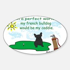 FrenchBulldogBlk Sticker (Oval)