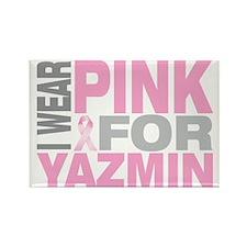 I-wear-pink-for-YAZMIN Rectangle Magnet