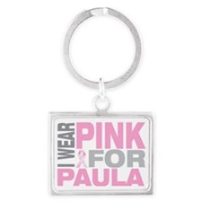I-wear-pink-for-PAULA Landscape Keychain