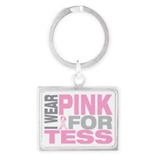 I-wear-pink-for-TESS Landscape Keychain