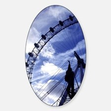 London Eye is located on the south  Decal