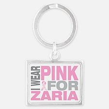 I-wear-pink-for-ZARIA Landscape Keychain