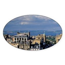 Edinburgh. View of Princess Street  Decal