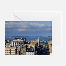 Edinburgh. View of Princess Street f Greeting Card